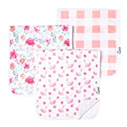"""Baby Burp Cloth Large Absorbent 3 Pack Gift Set Girl """"June"""" by Copper Pearl …"""