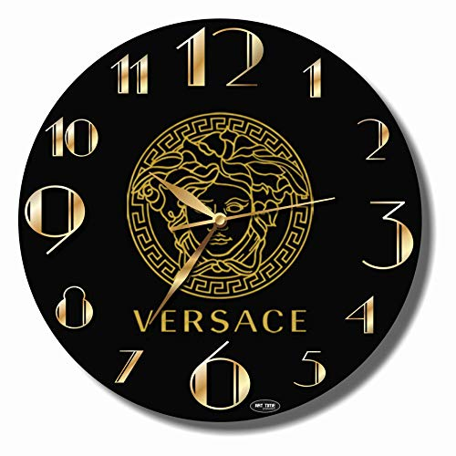 Art time production Versace 11'' Handmade Wall Clock - Get Unique décor for Home or Office – Best Gift Ideas for Kids, Friends, Parents and Your Soul Mates
