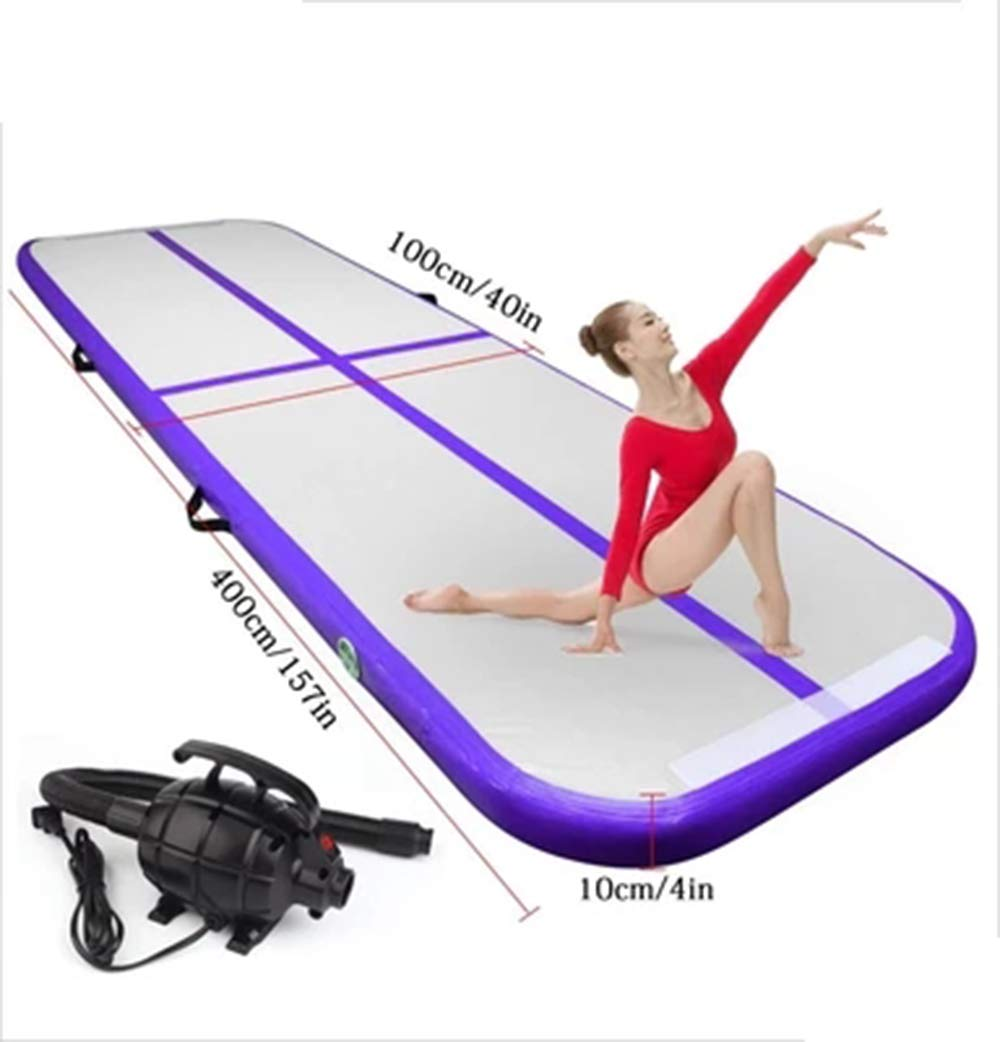 LOSITA Purple Multifunctional Inflatable Gymnastics Mattress, Taekwondo Somersault, Wire Drawing Yoga mat PVC Inflatable Water Thickening Yoga mat by LOSITA