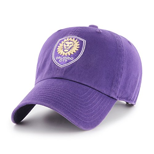 fan products of MLS Orlando City Soccer Club OTS Challenger Adjustable Hat, Purple, One Size