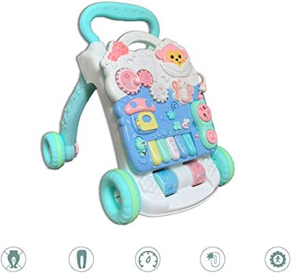 Multifunctional infant anti-rollover learning standing walker toy car