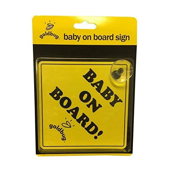 Playette PVC Goldbug Baby on Board Sign (Yellow)