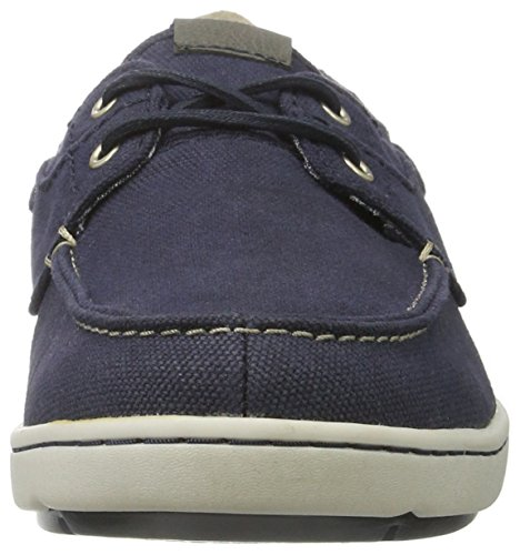 Rockport Herren Gryffen 2-Eye Boat Shoe Bootschuhe Blau (Navy Canvas)