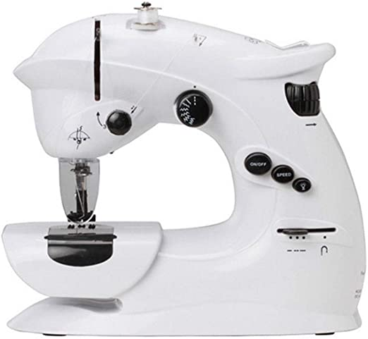 Zyj-Sewing Machine Mini máquina de Coser portátil Adaptador de CA ...