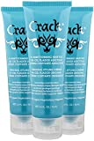 CRACK HAIR FIX Styling Creme - Multi-Tasking, Anti-Frizz, Leave-In Styling Aid With Protection from Humidity, Chlorine, Heat Treatments & Sun ( 2.5 Oz / 75 Milliliter - PACK OF THREE)