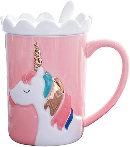 14Oz Funny Unicorn Gift for Girls and Kids Cute Ceramic Unicorn Coffee Mug Unicorn Mug Love