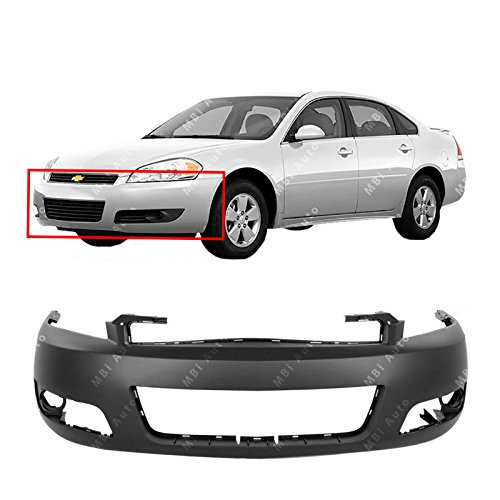 MBI AUTO - Primered, Front Bumper Cover Fascia for 2006-2013 Chevy Impala W/Fog 06-13, GM1000764