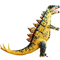 HUAYUARTS Dinosaur Inflatable Costume Stegosaurus Blow up Costume Fancy Dress Christmas Game Cosplay for Men