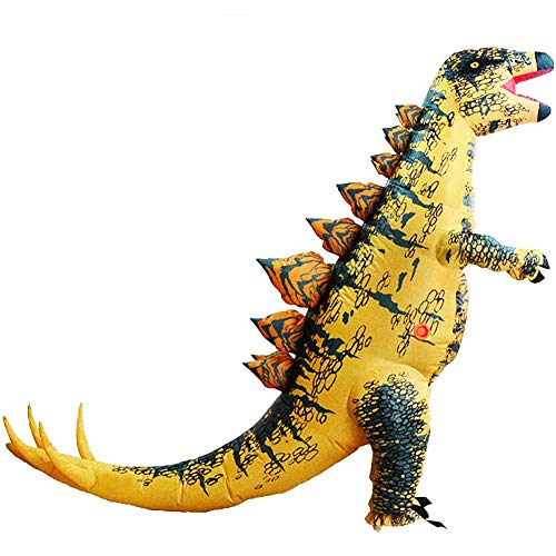 HUAYUARTS Dinosaur Inflatable Costume Stegosaurus Blow up Costume Fancy Dress Christmas Game Cosplay for Men -