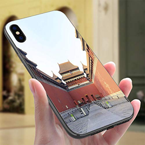 Creative iPhone Case for iPhone XR Forbidden City South Entrance Resistance to Falling, Non-Slip,Soft,Convenient Protective Case