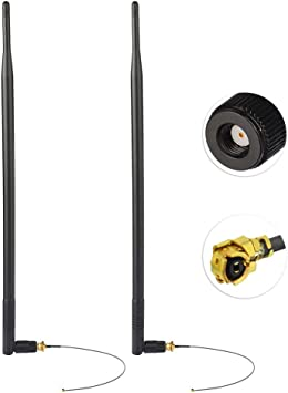 Antena WiFi 12dBi 2.4 GHz Conector RP-SMA de Alta Ganancia rp ...