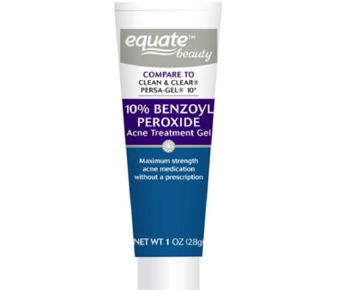 Equate 10 Percents Benzoyl Peroxide Acne Treatment Gel, 1oz, Compare To Clean & Clear Persa Gel 10 by Equate