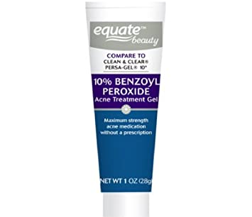 Amazon Com Equate 10 Benzoyl Peroxide Acne Treatment Gel 1oz