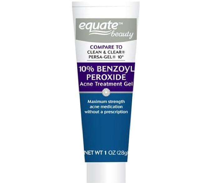 Amazon Com Equate 10 Benzoyl Peroxide Acne Treatment Gel 1oz