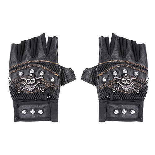 Sala-Sportswear - Breathable Bicycle Half Finger Type Sport Golves Motorcycle Antiskid Gloves Men Mountain Bike Cycling Riding Gloves 3 Colors