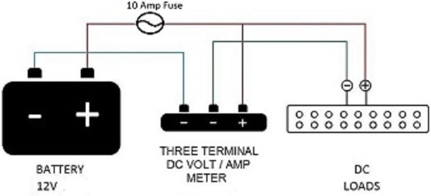 12vtechnology Waterproof 12V Blue Round LED Digital Amp Meter Ammeter Current Voltmeter Fused Panel Dash #AVMB//fs10