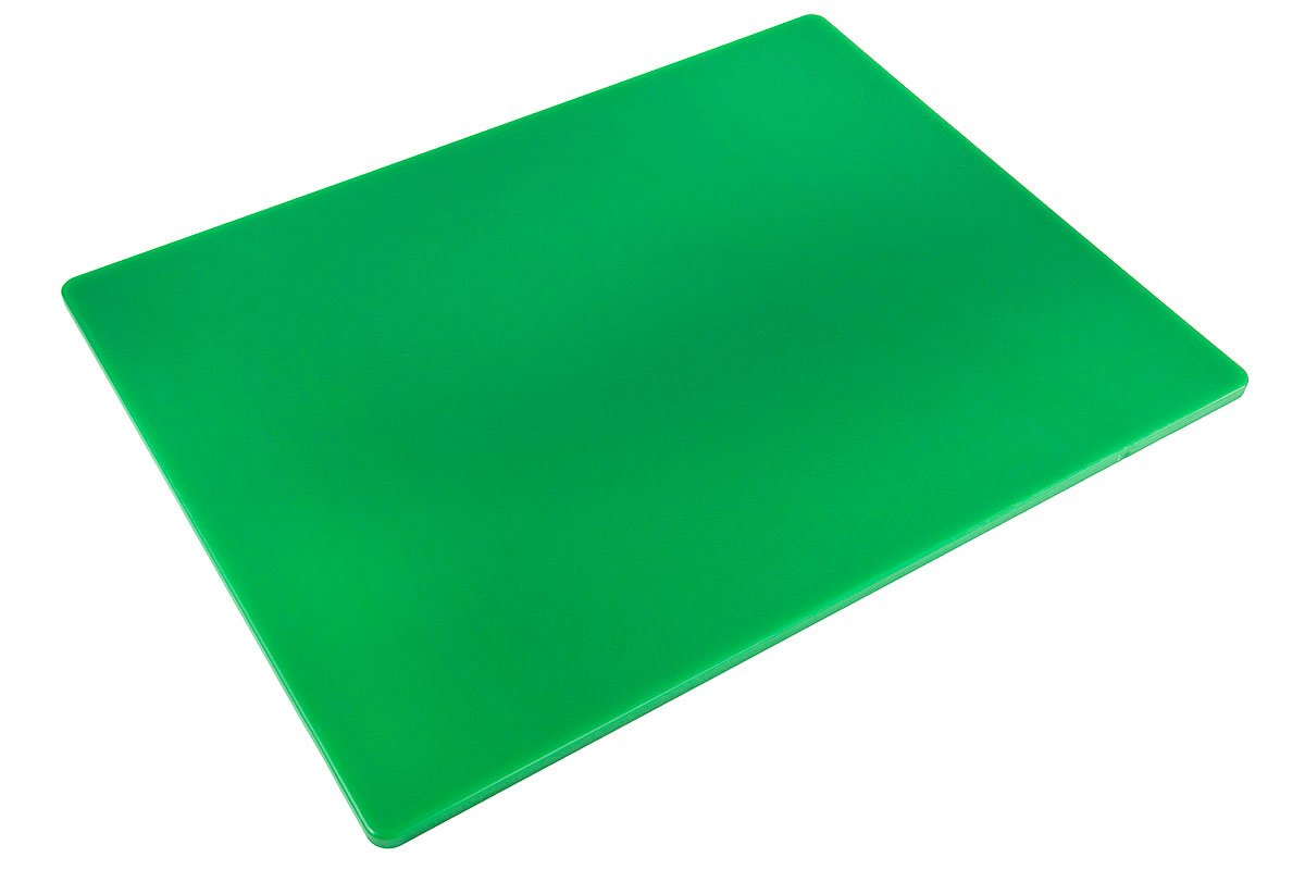 Professional Plastic Cutting Board, HDPE Poly for Restaurants, Dishwasher Safe and BPA Free (24 x 18 x 1/2, Green)