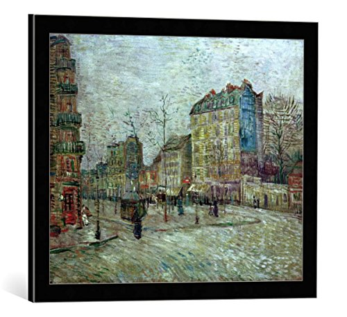 kunst für alle Framed Art Print: Vincent Van Gogh Boulevard de Clichy - Decorative Fine Art Poster, Picture with Frame, 23.6x19.7 inch / 60x50 cm, Black/Edge Grey