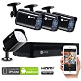 ELEC 8CH HDMI 960H DVR 1500TVL Outdoor Indoor Day Night IR-Cut CCTV Surveillance Home Video Security Camera System, Motion Detection Push Alerts QR Code Quick Scan Remote Viewing- No Hard Drive …