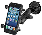 Ram Mount Twist Lock Suction Cup Mount with Universal Cell Phone Holder, Black, RAM-B-166-UN7U (Certified Refurbished)