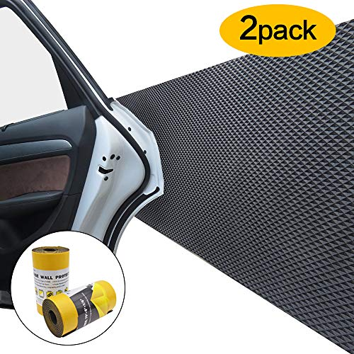 Car Door Protector Bump Body Guard,2 Pack Foam Sticking Garage Wall Parking Protector Collision Avoidance Waterproof Foam Protector Wall Corner Protecting Your Car Doors (2 packs in one roll) by GUEQUITLEX (Image #7)