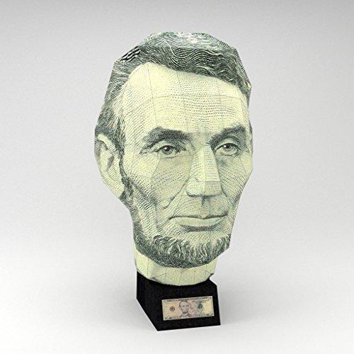 Wizhead US $5 Bill - Abraham Lincoln 3D Paper Puzzle - Abraham Lincoln Puzzles