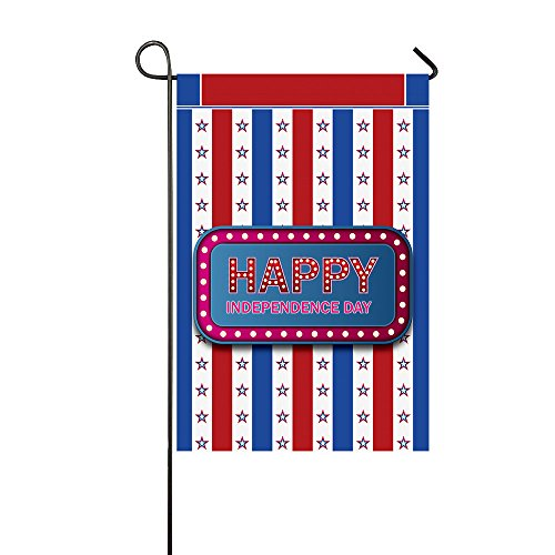 WAZZIT American Flag Theme Garden Flag Double Sided 12 x 18