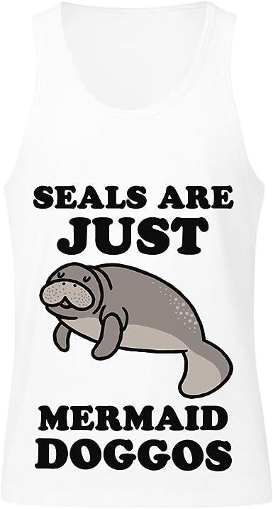 Seals are Just Mermaid Doggos Mens Tank Top Shirt