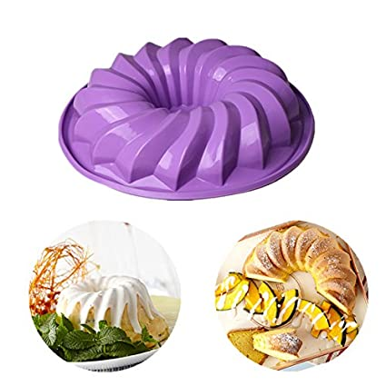 3.Biscuit Fondant Delidge 7.5 inch Large Size Round Oreo Cookie Mold Silicone Cake Mold Pan Pizza Tray Bakeware