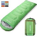 sleeping bag - CERTAMI Sleeping Bag -Envelope Lightweight Portable Waterproof,for Adult 3 Season Outdoor Camping Hiking. (Green/Right Zip)