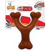 Nylabone Ergonomic Hold & Chew Wishbone Power Chew Durable Dog Toy, Bison, 1 Count, Regular