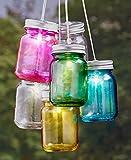 The Lakeside Collection Set of 6 Solar Mini Mason Jars