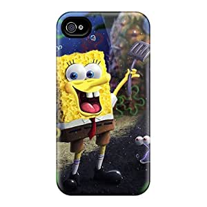 Snap-on Spongebob Cartoon Case Cover Skin Compatible With Iphone 4/4s