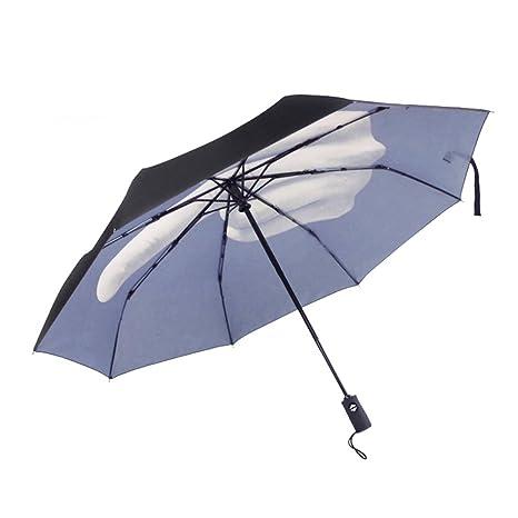 Sundlight Sun Umbrella Anti-UV and Windproof Middle Finger Folding Novelty umbrella Black