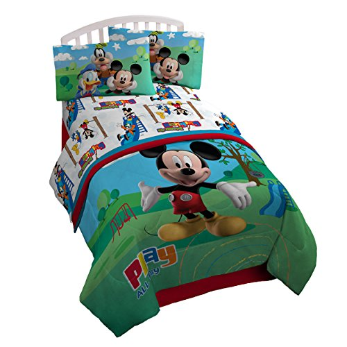 [Disney Mickey Mouse Club House 'Play' Twin Comforter Set] (Mickey Mouse Clubhouse Accessories)
