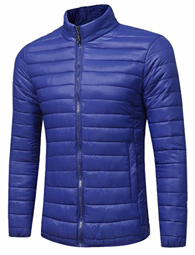 Hot Sale-UK Men's Stand Collar Packable Lightweight Casual Down Jacket Coat 2