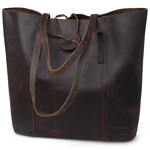 Jack&Chris New Vintage Cowhide Leather Handbag Tote Shoulder Bag Purse, MC506 - Vintage Purse Leather