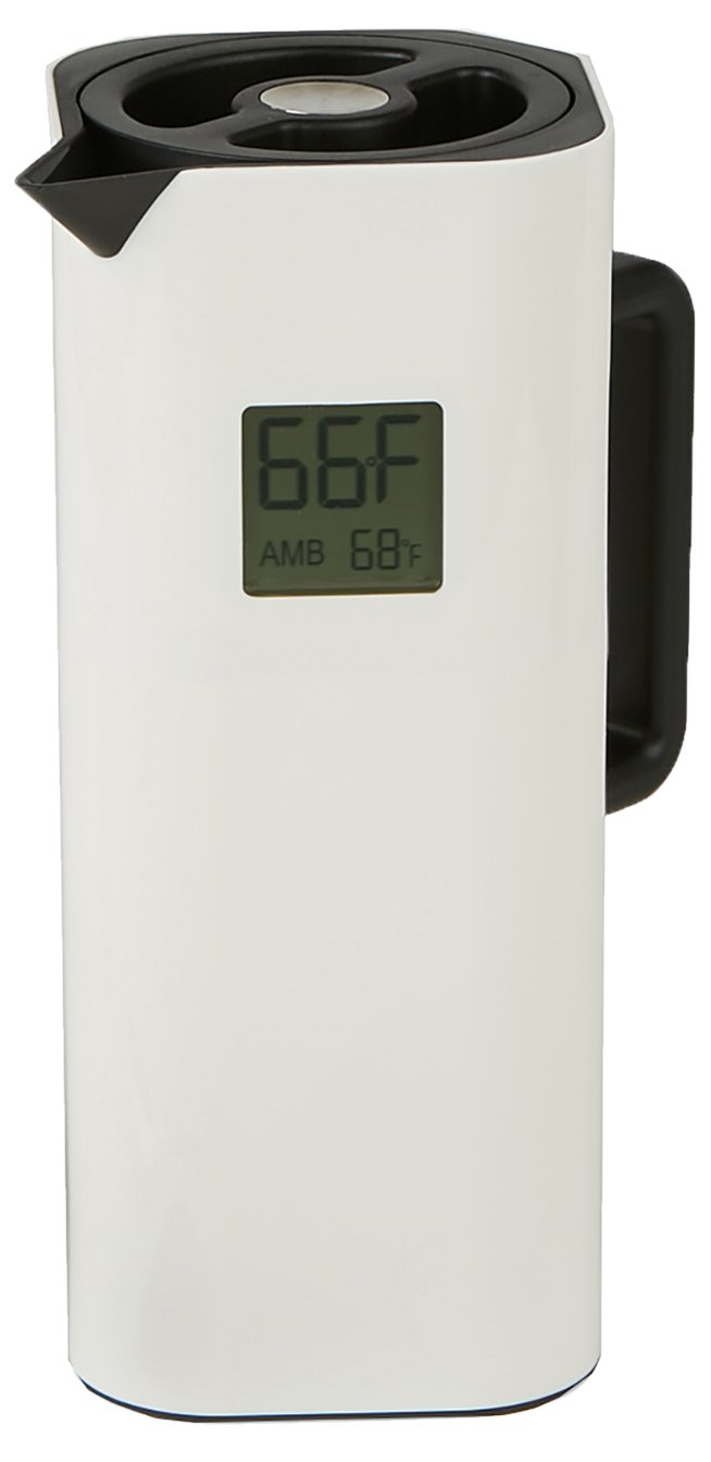 Mind Reader TEMPITCH-WHT Double Walled Thermal Carafe, Holds up to 4 Cups of Coffee, 32 oz, White