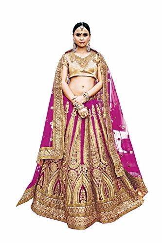Da Facioun Indian Women Designer Wedding violet Lehenga Choli K-4747-41909