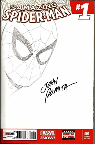 John Romita Sr. AMAZING SPIDERMAN #1 Signed ORIGINAL Sketch Comic PSA/
