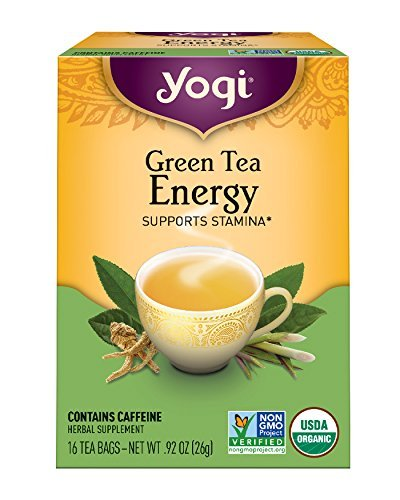 Ginseng Energy Drinks (Yogi Tea, Energy Green Tea, 16 Count (Pack of 6), Packaging May Vary)