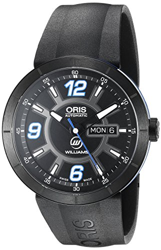Oris Men's 'TT1 diver' Swiss Stainless Steel and Rubber Automatic Watch, Color:Black (Model: 73576514765RS)