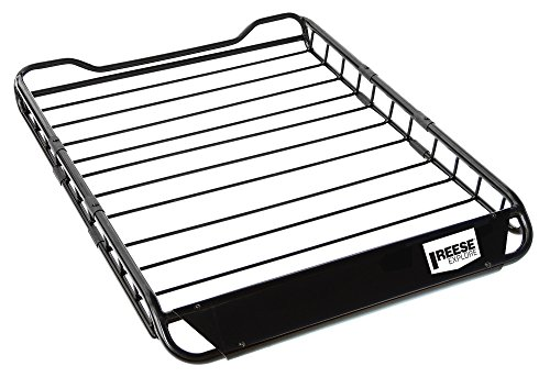 (Reese 1391300 Explore Rooftop Cargo Basket, Easy Assembly 125 Lb. Capacity)