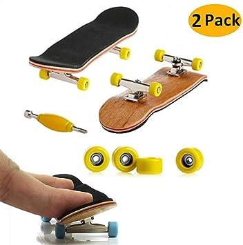 18 Pack Skateboard Professionnel Finger pour Tech Deck /Érable Wood Ensemble De Bricolage Skate Boarding Jouets Jeux De Sport,Skateboard De Doigt Cadeau pour Enfants Mini Fingerboard