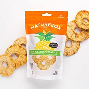 NatureBox Dried Pineapple Rings - Unsweetened, Non-GMO, No Preservatives (5 bags)