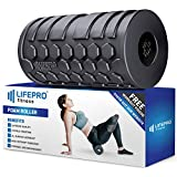 LifePro 4 Speed Vibrating Foam Roller - High Intensity Electric Vibration Massager Bonus Manual Ebook & Videos Deep Tissue Trigger Point Therapy, Sports Recovery, Mobility & Fitness Training