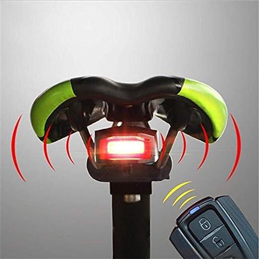 Luz de bicicleta Alarma remota Luz de bicicleta USB Recargable ...