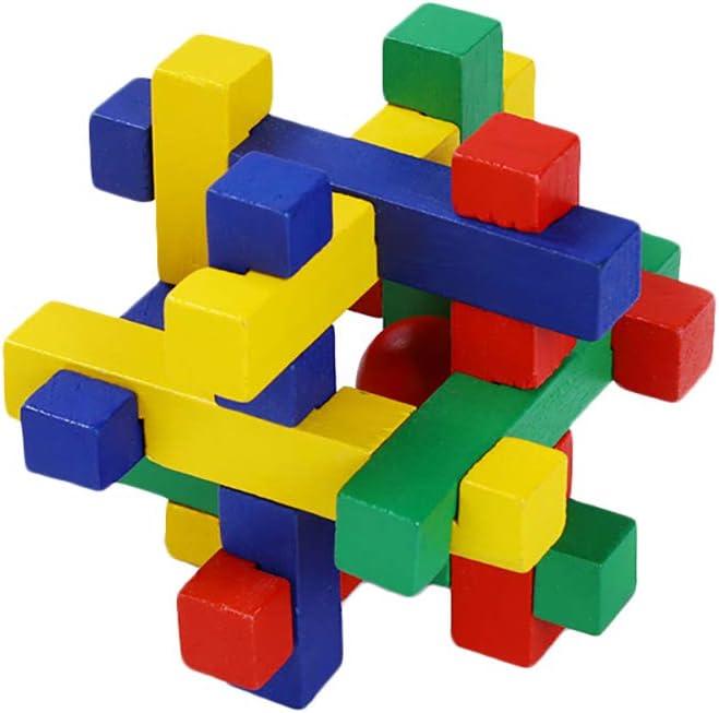TREESTAR Jouet en Bois pour Enfants de Plus de 1 Ans Enfants Apprentissage /Éducatif Building Block Trier des Jouets D/émontage et Montage 3 en
