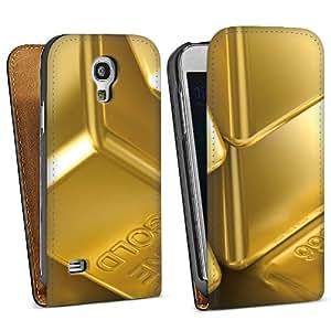 Diseño para Samsung Galaxy S4 Mini I9195 DesignTasche Downflip black - Goldbarren