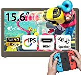 GeChic 1503E 15.6 inch FHD 1080p Portable Monitor with HDMI, VGA Input, USB Powered, Ultralight Weight, Built-in Speakers
